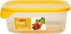 Pojemnik do żywności Fresh&Go kwadratowy żółty 0,8L