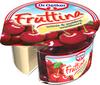 Deser Fruttina wiśnie i pudding waniliowy