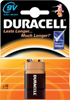 Bateria Duracell 6LR61 9V