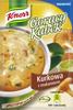 Gorący kubek Knorr kurkowa z makaronem