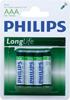 Baterie cynkowo węglowe-long life ro3 aaa(1,5v)/4szt