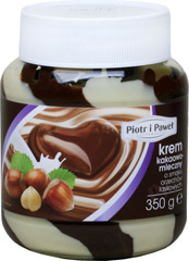 Krem kakaowo-mleczny o smaku orzechów laskowych