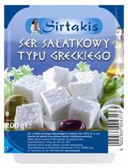 Serek Sirtakis sałatkowy typu greckigo