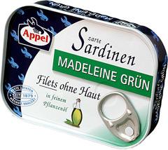 Sardynki Appel w oleju roślinnym madeleine