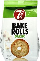 7 days bake rolls czosnkowe