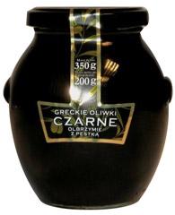 Oliwki czarne greckie olbrzymie z pestka Midas