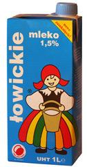 Mleko łowickie 1,5%