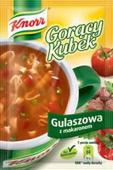 Gorący kubek Knorr gulaszowa z makaronem