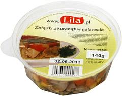 Żołądki z kurcząt w galarecie Lila