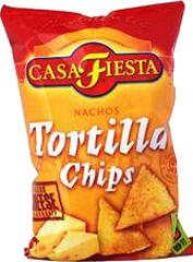 Chipsy tortilla serowe