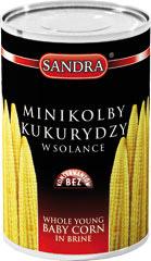 Kukurydza Sandra mini kolby