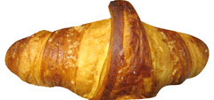 Croissant z malinami