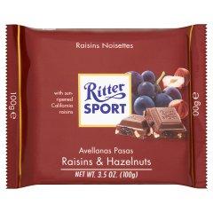 Czekolada Ritter sport z rodzynkami i orzechami