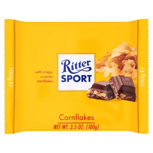 Czekolada Ritter sport z płatkami kukurydzianymi