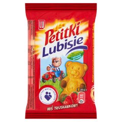 LU Petitki Lubisie Miś truskawkowy Ciastko biszkoptowe z nadzieniem 30 g