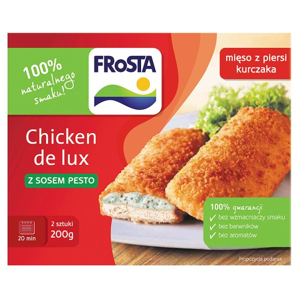 Chicken de Lux z sosem pesto Frosta