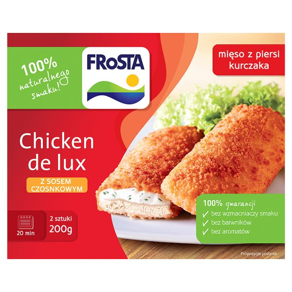 Chicken de lux z sosem czosnkowym Frosta