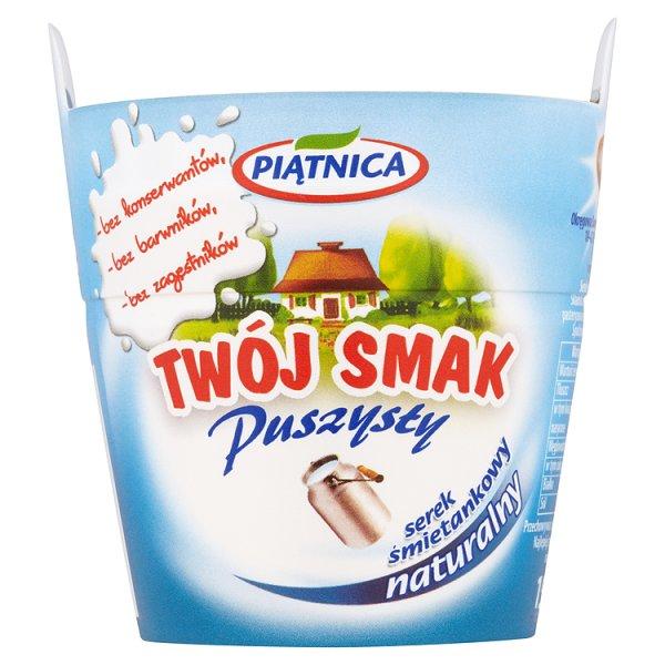 Piątnica Twój Smak Puszysty Serek śmietankowy naturalny 150 g