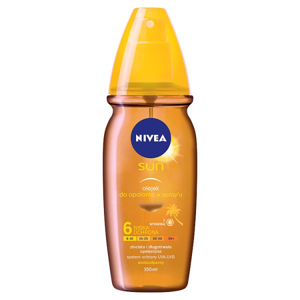 Olejek do opalania Nivea Sun w sprayu Spf 6