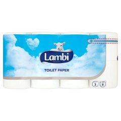 Papier toaletowy Lambi biały /8 rolek
