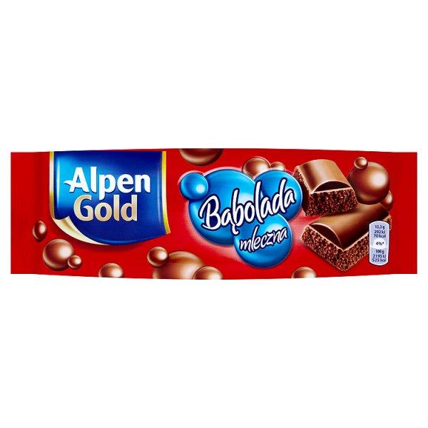 Alpen Gold Bąbolada mleczna Czekolada 80 g