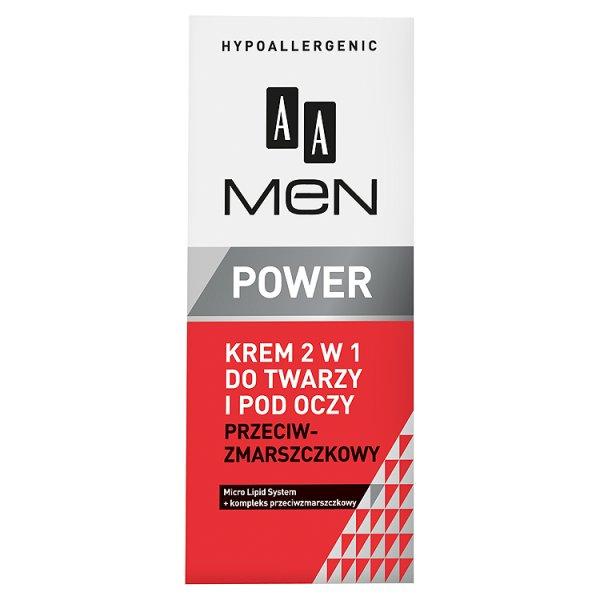 AA Men Power krem 2w1 do twarzy i pod oczy przeciwzmarszczkowy