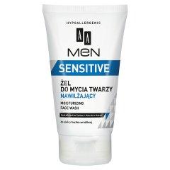 Aa men sensitive żel myjący do twarzy nawilżający