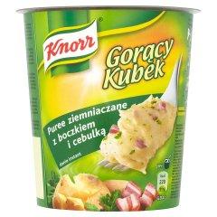 Gorący kubek Knorr puree z boczkiem i cebulką