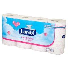 Papier toaletowy Lambi różowy /8rolek