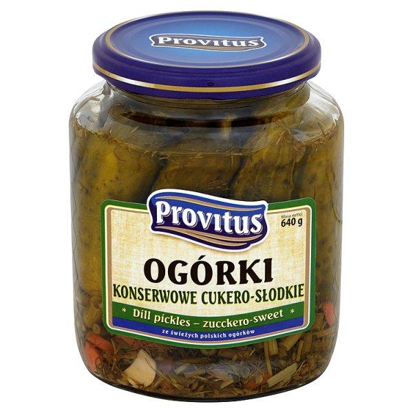 Ogórki konserwowe cukero-słodkie Provitus