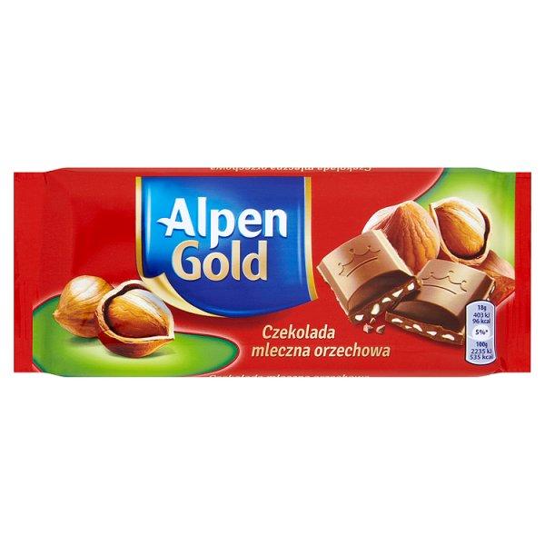 Czekolada orzechowa Alpen Gold