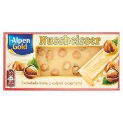 Czekolada Alpen Gold Nussbeisser biała z orzechami