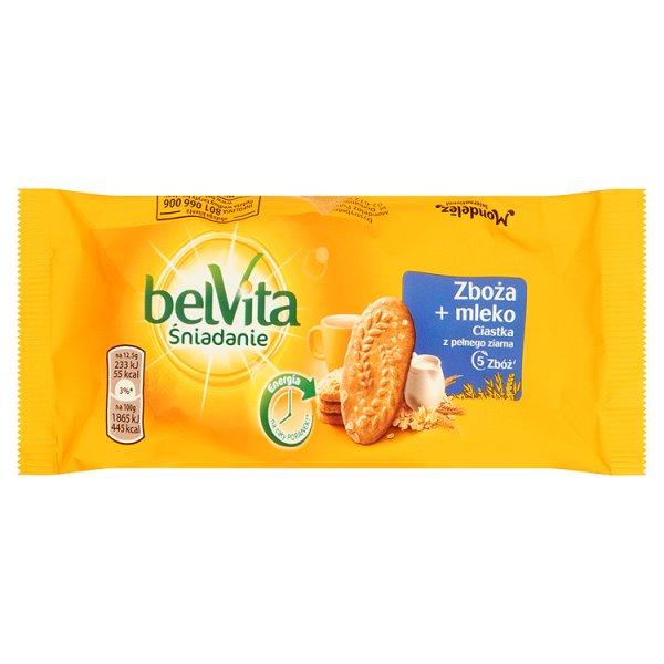 Ciastka Belvita zbożowe z 5 rodzajami zbóż i mlekiem