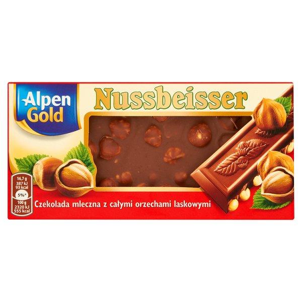 Czekolada Alpen Gold Nussbeisser - z orzechami