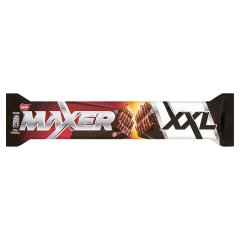 Maxer XXL Wafel przekładany kremem kakaowym oblany deserową czekoladą 50 g