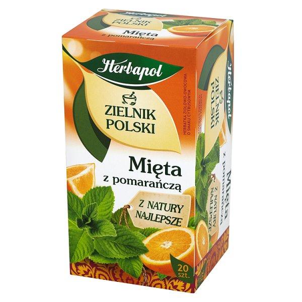 Herbapol Zielnik Polski Mięta z pomarańczą Herbatka ziołowo-owocowa 30 g (20 saszetek)
