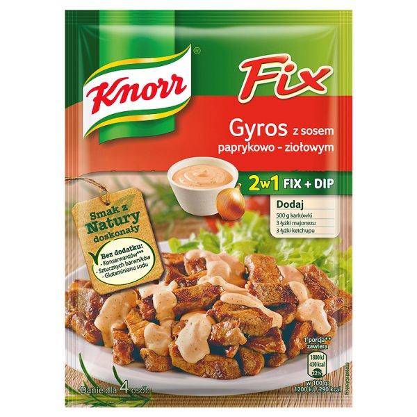 Fix Knorr gyros z sosem  paprykowo - ziołowym