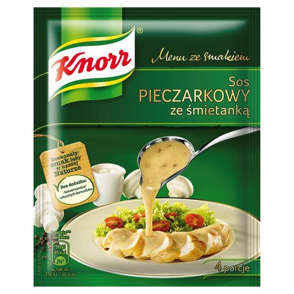 Sos Knorr pieczarkowy ze śmietanką