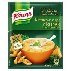 Knorr Rozkosze podniebienia Kremowa zupa z kurek ze szczypiorkiem 59 g