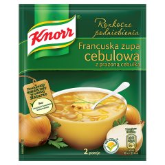 Zupa Knorr menu ze smakiem francuska zupa cebulowa