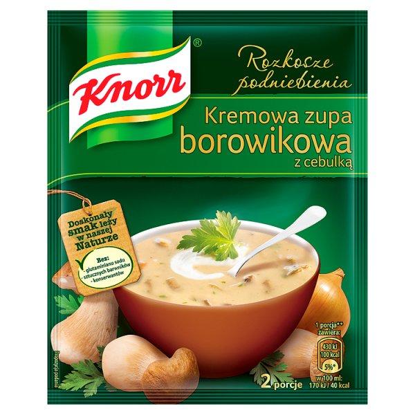 Zupa Knorr borowikowa z cebulką menu ze smakiem