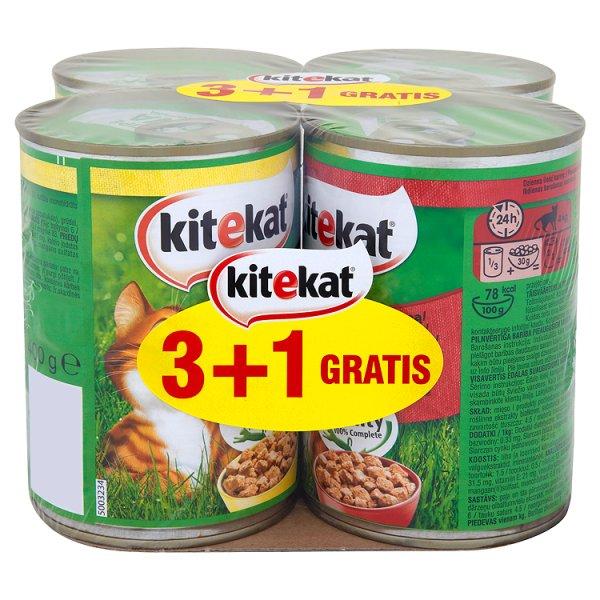 Karma Kitekat kurczak wołowina 4*400g puszka (K)