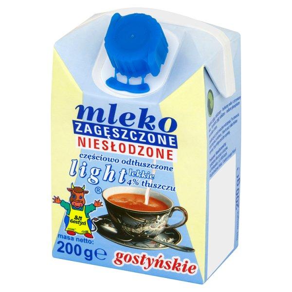 SM Gostyń Mleko gostyńskie zagęszczone niesłodzone light 4% 200 g