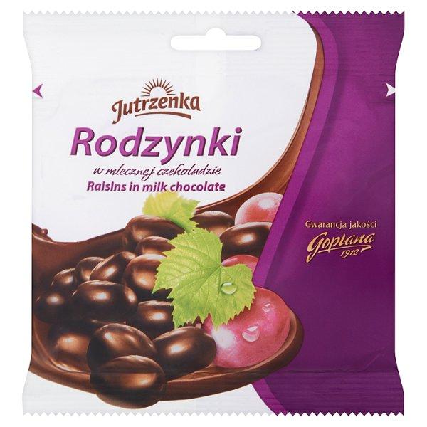 Rodzynki Jutrzenka w czekoladzie mlecznej