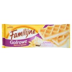Wafle gofrowe familijne z musem o smaku waniliowym/150g