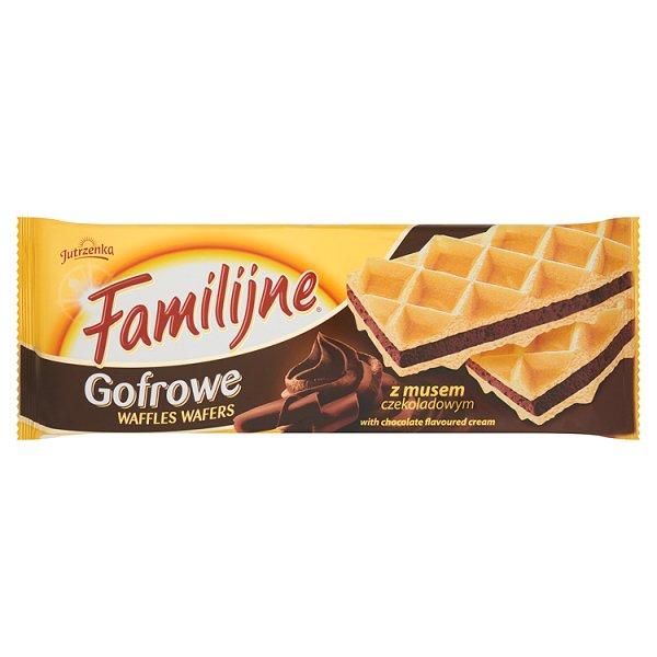 Wafle gofrowe Familijne z musem o smaku czekoladowym