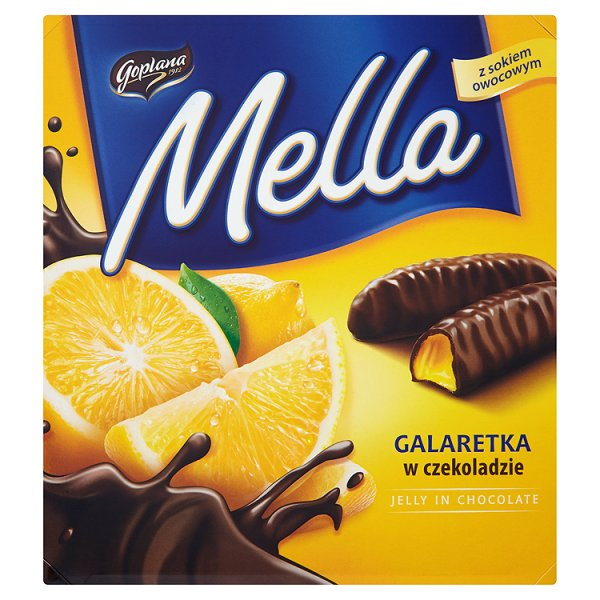 Goplana Mella Galaretka w czekoladzie o smaku cytrynowym 190 g