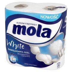 Mola White Bawełniana Biel Papier toaletowy 4 rolki