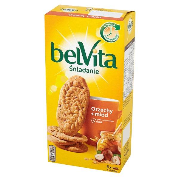 Ciastka Belvita z orzechami laskowymi i czekoladą