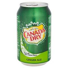 Canada Dry Ginger Ale Napój gazowany o smaku imbirowym 330 ml